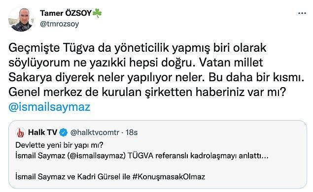 Geçmişte Van İl Temsilcisi olan Tamer Özsoy'dan da bir itiraf geldi.