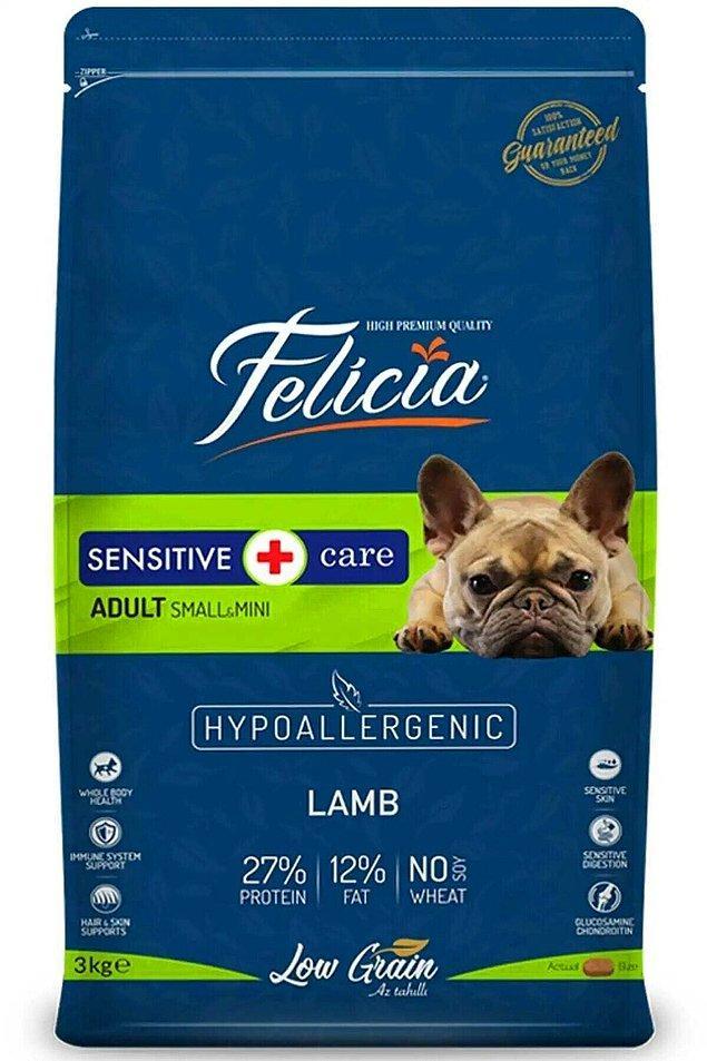 14. Royal Canin, Proplan ve N&D kadar içeriği zengin olmayan bir marka da Felicia.