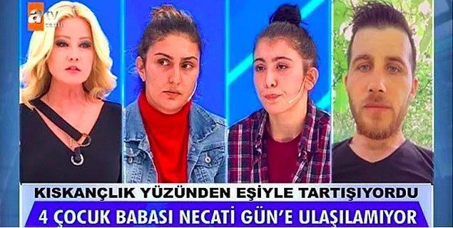 Zonguldak Ereğli'de 26 Eylül'den itibaren haber alınamayan 33 yaşındaki 4 çocuk babası Necati Gün'ü bulmak için eski eş, yeni eş ve anne Müge Anlı'nın kapısını çaldı. Necati'nin kayınvalidesiyle ilişki yaşadığı iddia edildi.
