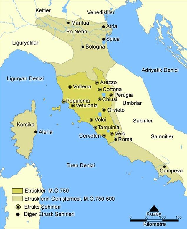 Yapılan çalışmalar sonucunda Etrüsklerin İtalya kökenli olduğu görüldü.