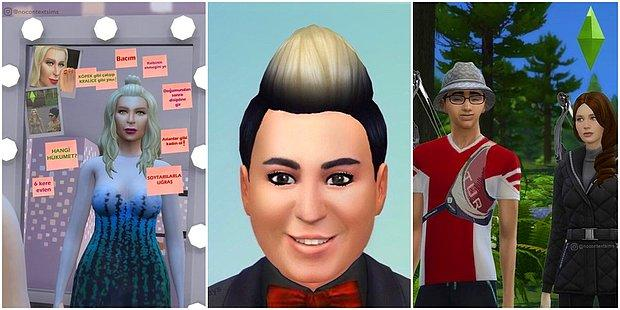Ünlü İsimleri Sims Karakterlerine Çeviren Hesabın Birbirinden Absürt 13 Çalışması