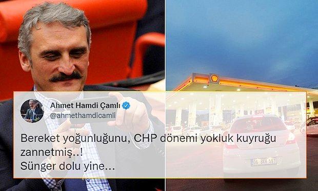 AKP'li Ahmet Hamdi Çamlı, Benzin İstasyonlarındaki Kuyrukları 'Bereket Yoğunluğu' Olarak Yorumladı