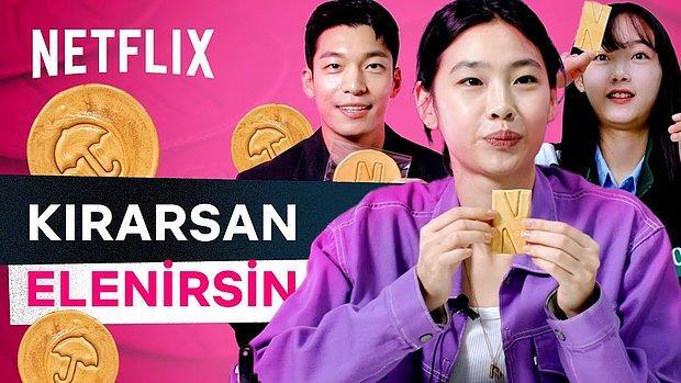 Netflix'in Rekorlar Kıran Dizisi Squid Game'in Oyuncuları 'Dalgona Şekeri Challenge' Yaptı