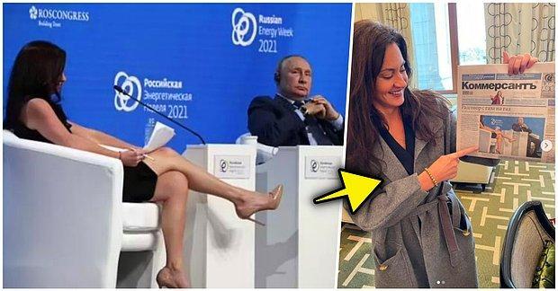 Rus Medyası ABD'li Gazeteci Hadley Gamble'ın Bacaklarıyla Putin'in Dikkatini Dağıtmaya Çalıştığını İddia Etti!