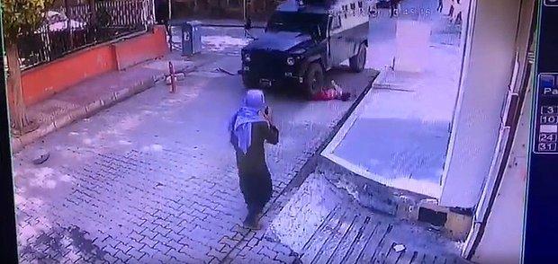 Viranşehir'de Zırhlı Aracın Altında Kalan Çocuğun Korkunç Görüntüleri