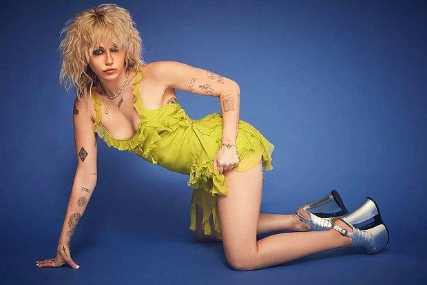 Miley Cyrus Göğüslerini Açtı! Çıplak Pozuyla Sosyal Medyada Olay Oldu!
