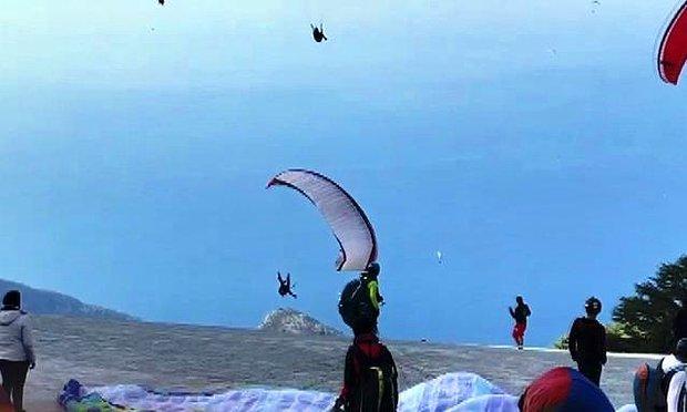 Muğla'da Bir Paraşütçü Havalanmaya Çalışırken Yere Çakıldı, Diğeri de İniş Yaparken Stantlara Çarptı
