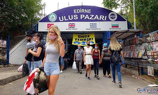Dolar'ın 9.50'nin Üzerine Çıkmasının Ardından Bulgaristan'dan Edirne'ye Akın Akın Alışveriş Yapmaya Geldiler