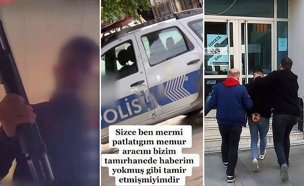 Polis Aracını Kurşunlamış Gibi Video Çekti; Gözaltına Alındı