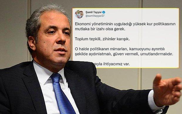 AKP'li Şamil Tayyar'dan Kur Tepkisi: 'Mutlaka Bir İzahı Olsa Gerek'