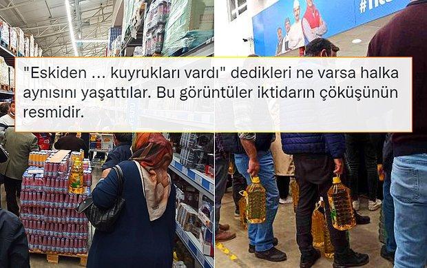 Sivas'taki Ucuz Yağ Kuyruğu Muhalefetin Gündeminde: 'İktidarın Çöküşünün Resmidir'