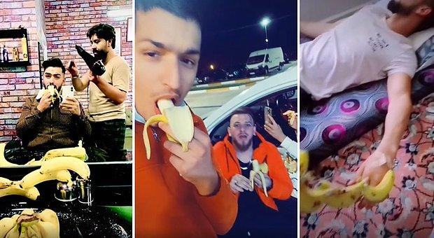 Suriyeliler Bizden İyi Geçiniyor Muz Alamıyoruz Diyen Vatandaşı Ti'ye Alan Suriyeliler Muz Yeme Akımı Başlattı