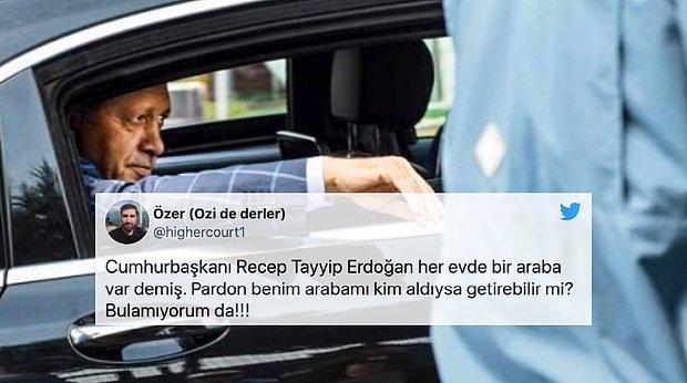 Erdoğan Her Evde Araba Olduğunu İddia Etti ve 'Araç Yetişmiyor' Dedi: Sosyal Medya Arabaların Yerini Sordu