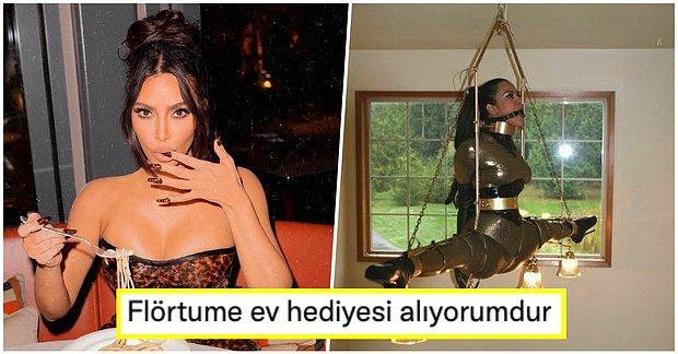 Kim Kardashian, Paylaştığı Elleri ve Ağzı Bağlı Avizede Duran Kadın Fotoğrafı ile Kafaları Karıştırdı!